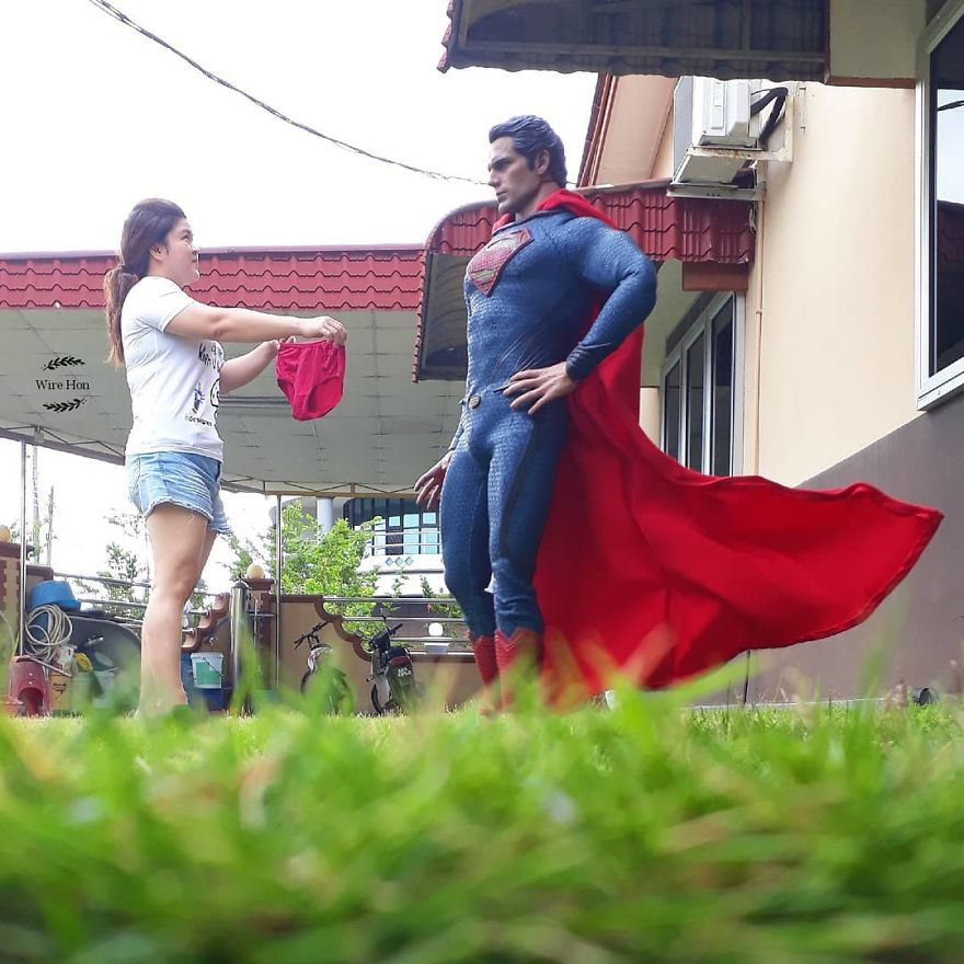 Forced perspective photography with toy superheroes - 6