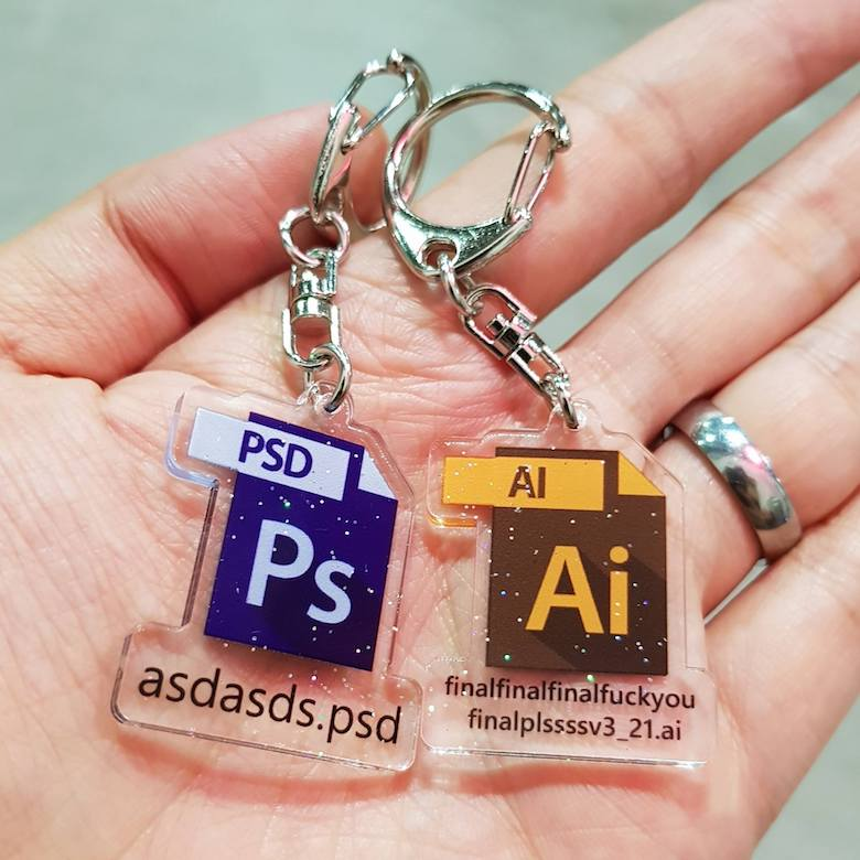Keychains for graphic designers - 1