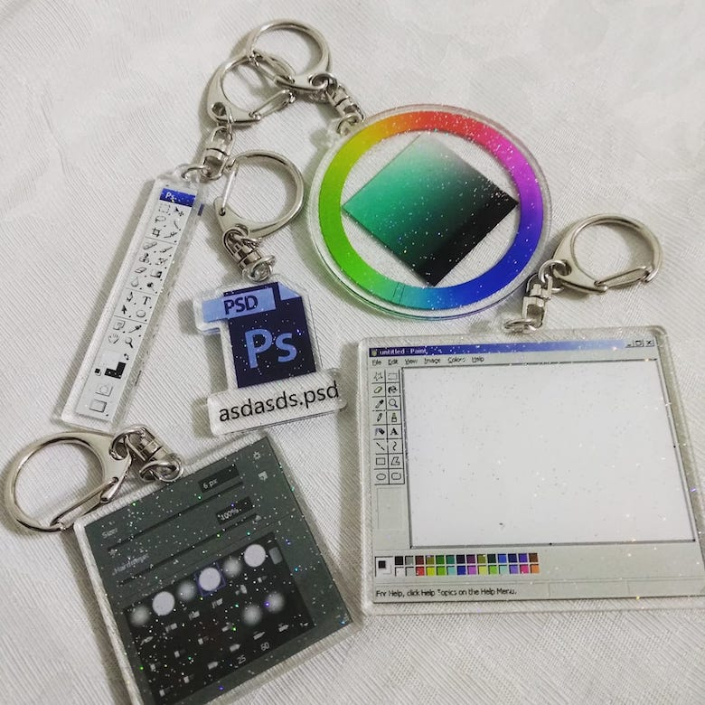 Keychains for graphic designers - 2