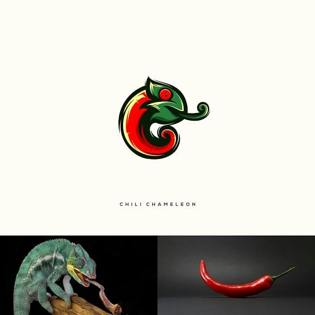 Logos made by combining two different things - 4