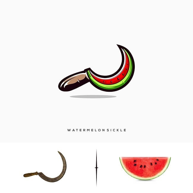 Logos made by combining two different things - 7
