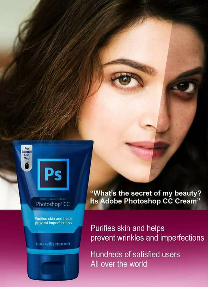 What's the secret of my beauty? It's Adobe Photoshop CC Cream