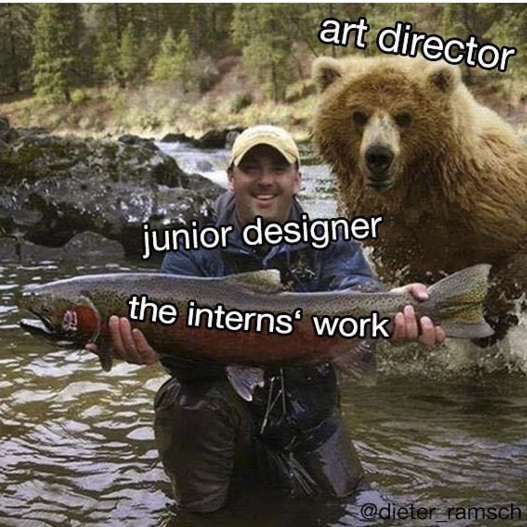 Art Director vs. Junior Designer vs. Intern's Work