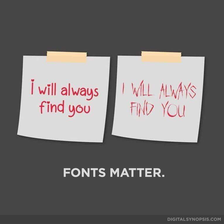 I will always find you - Fonts Matter