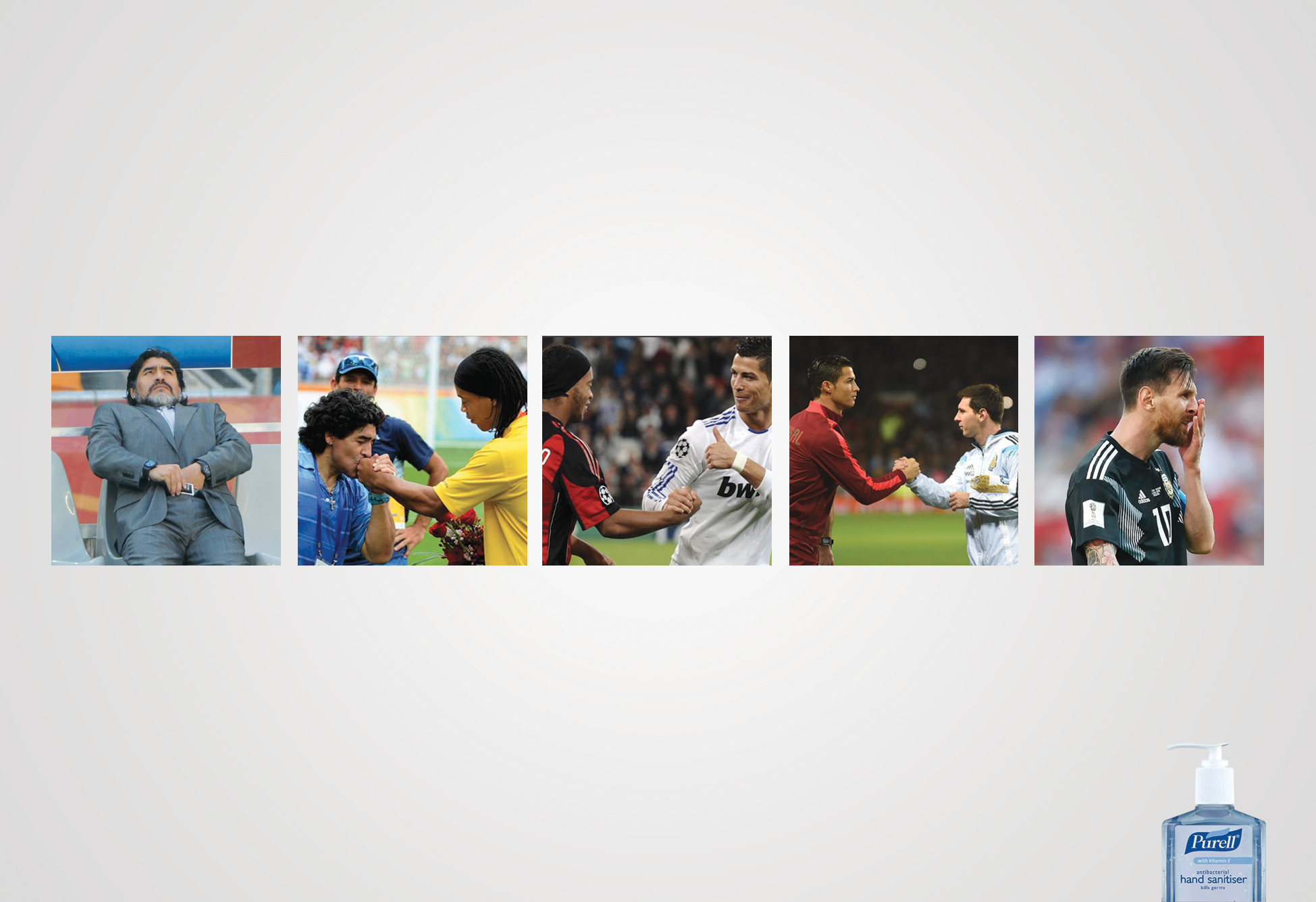 Purell Hand Sanitiser: Dirty Hands (Maradona - Messi)
