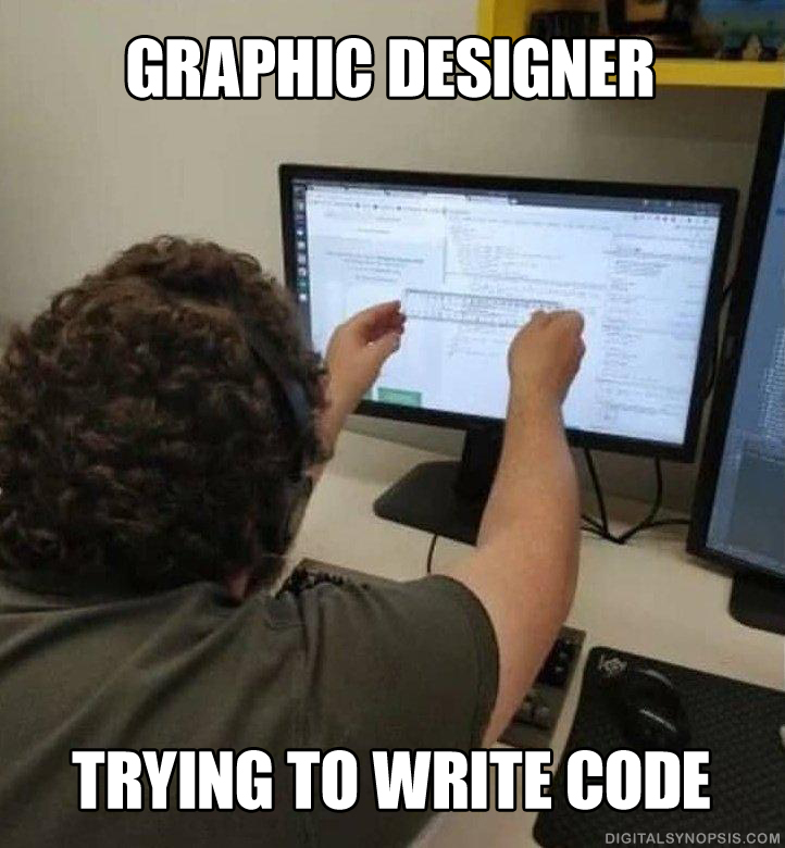 Graphic Designer trying to write code