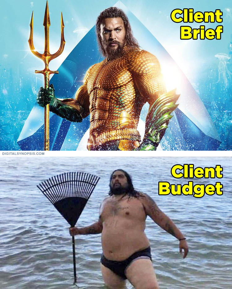 Client Brief vs. Client Budget (Aquaman)