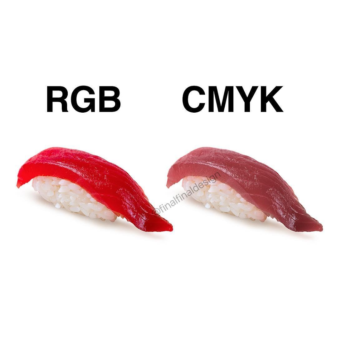 RGB vs. CMYK (Sushi)