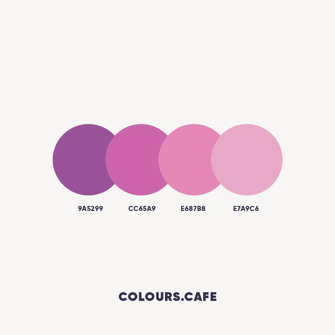 Purple color shades, combinations, palettes, schemes