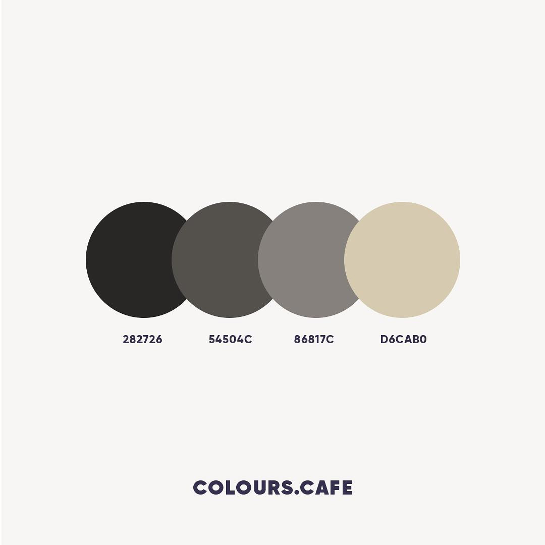 Black & Grey color shades, combinations, palettes, schemes