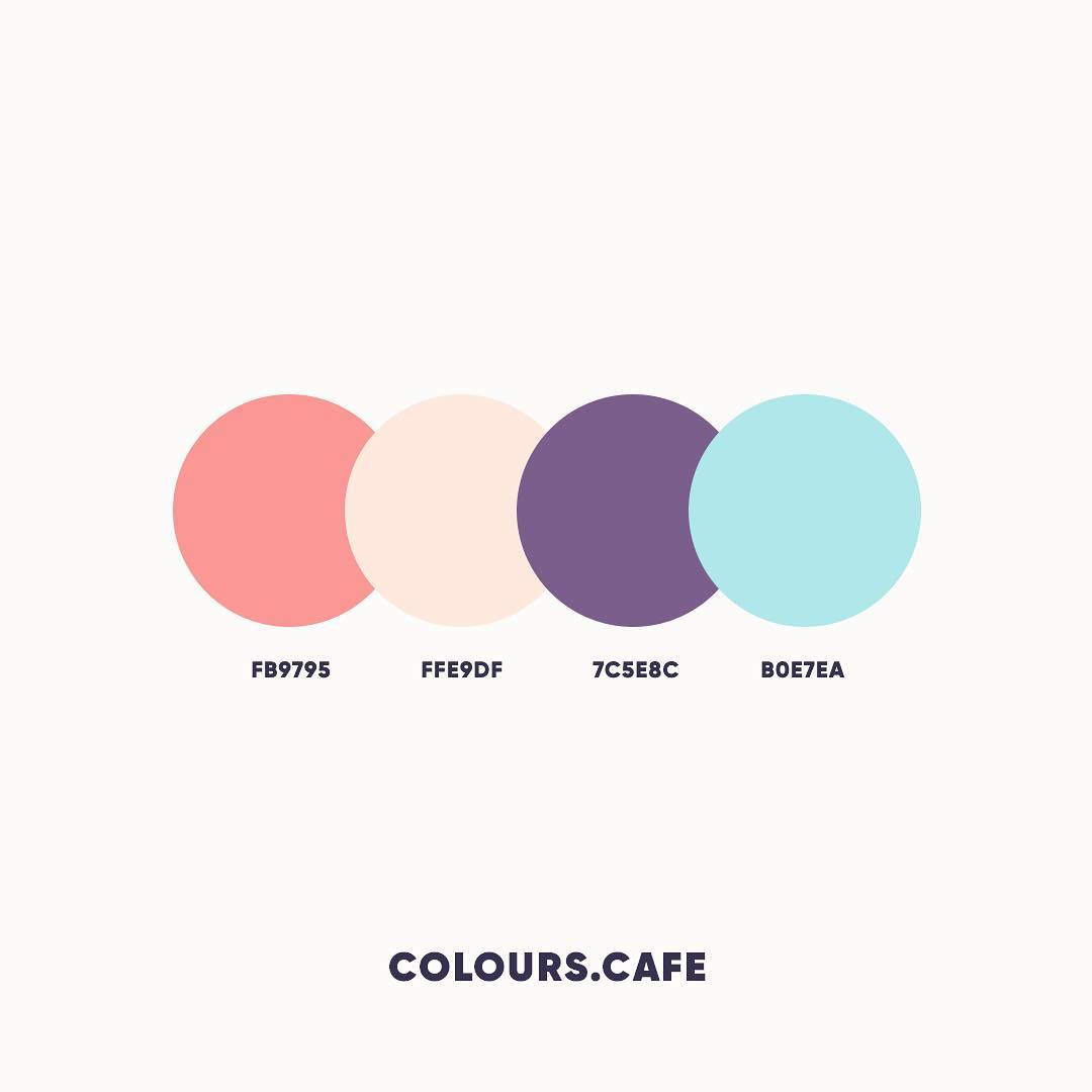 Orange, Skin, Purple, Blue color shades, combinations, palettes, schemes