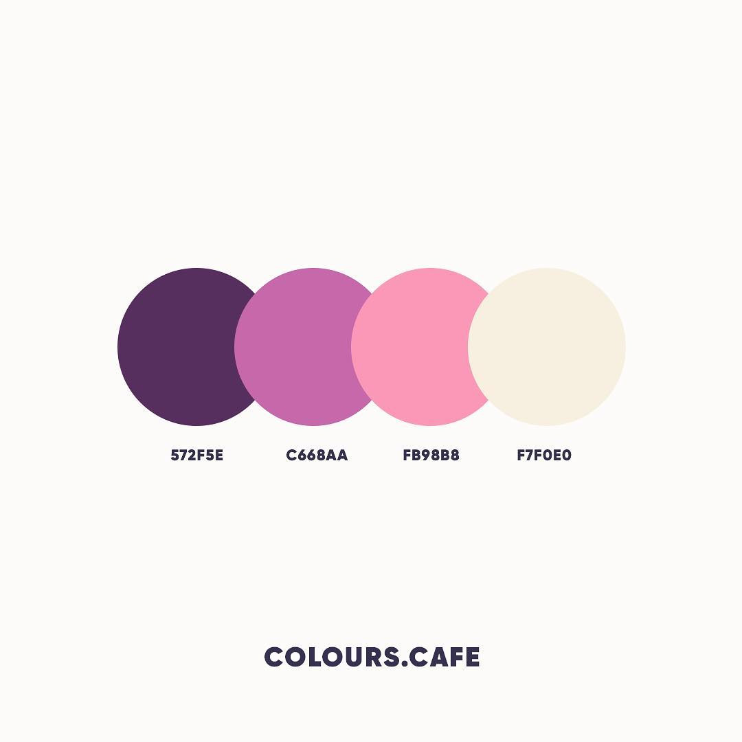 Purple & Pink color shades, combinations, palettes, schemes