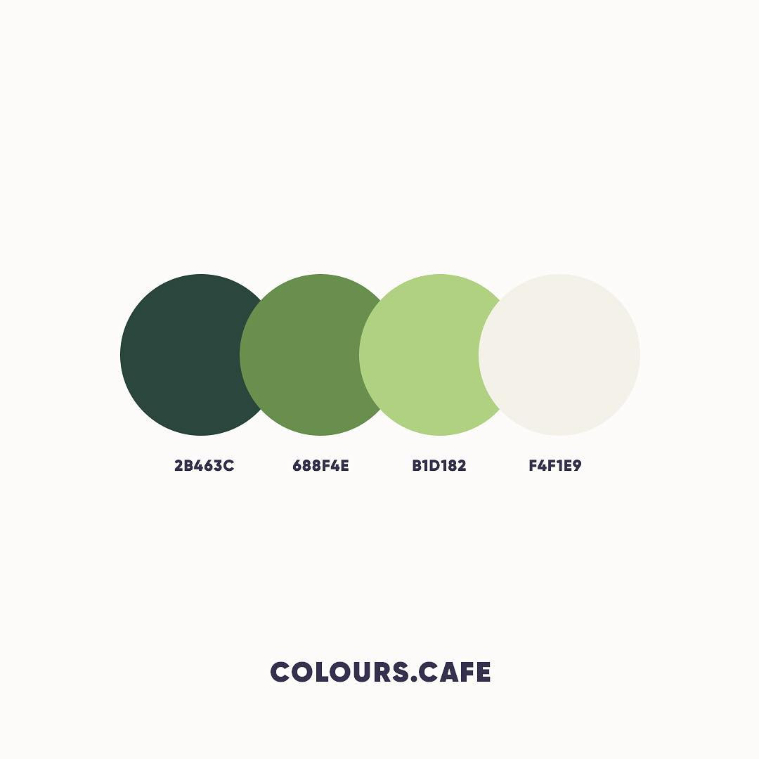Green color shades, combinations, palettes, schemes
