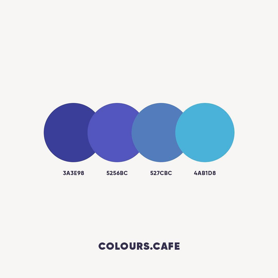 Blue color shades, combinations, palettes, schemes