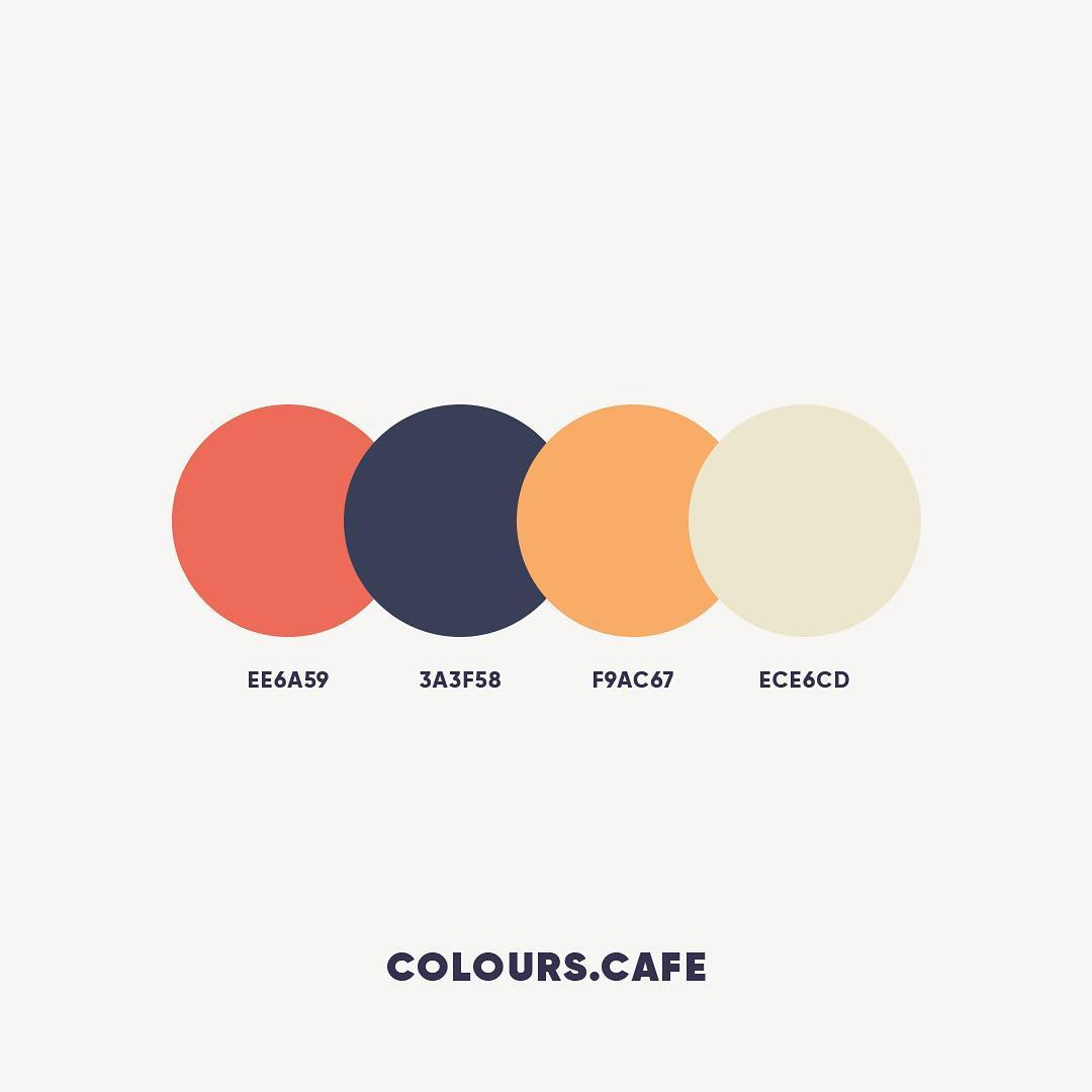 Orange & Blue color shades, combinations, palettes, schemes