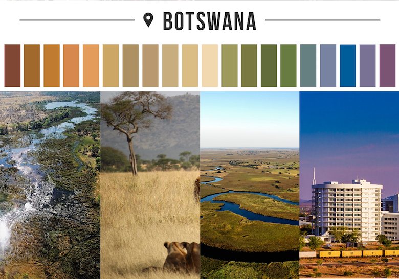 Colors of countries - Botswana