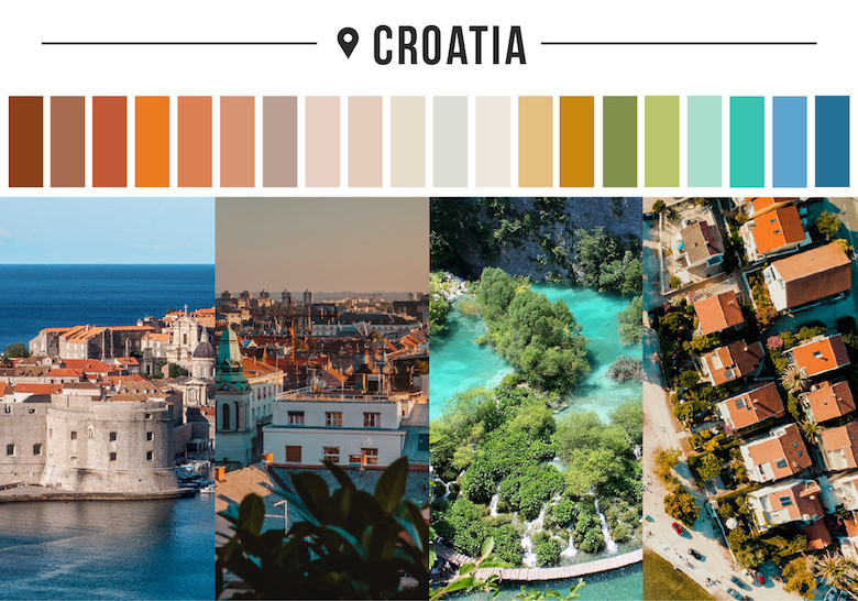 Colors of countries - Croatia