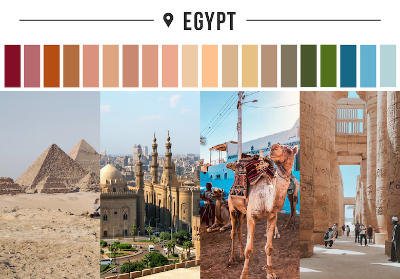 Colors of countries - Egypt