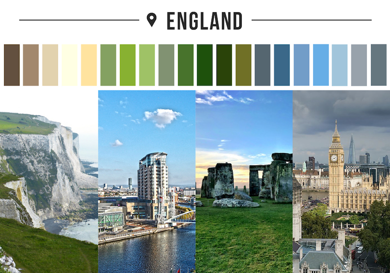 Colors of countries - England