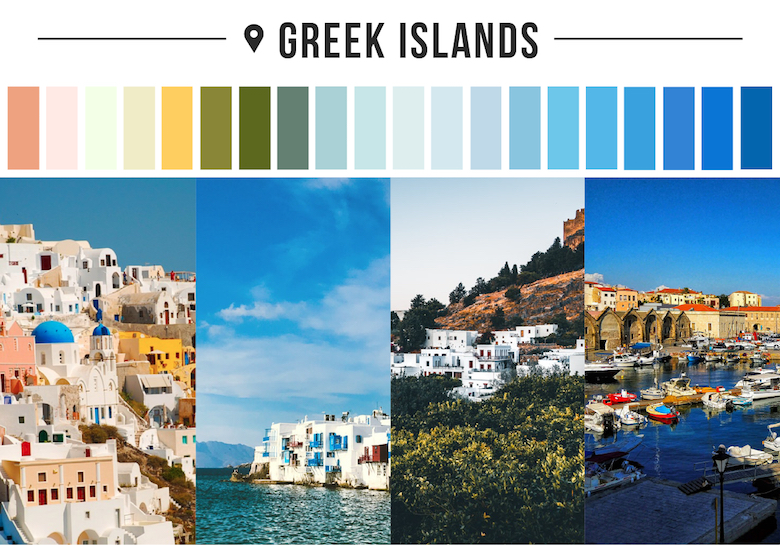 Colors of countries - Greek Islands