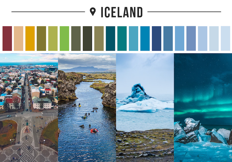 Colors of countries - Iceland
