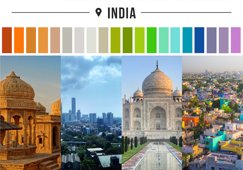 Colors of countries - India
