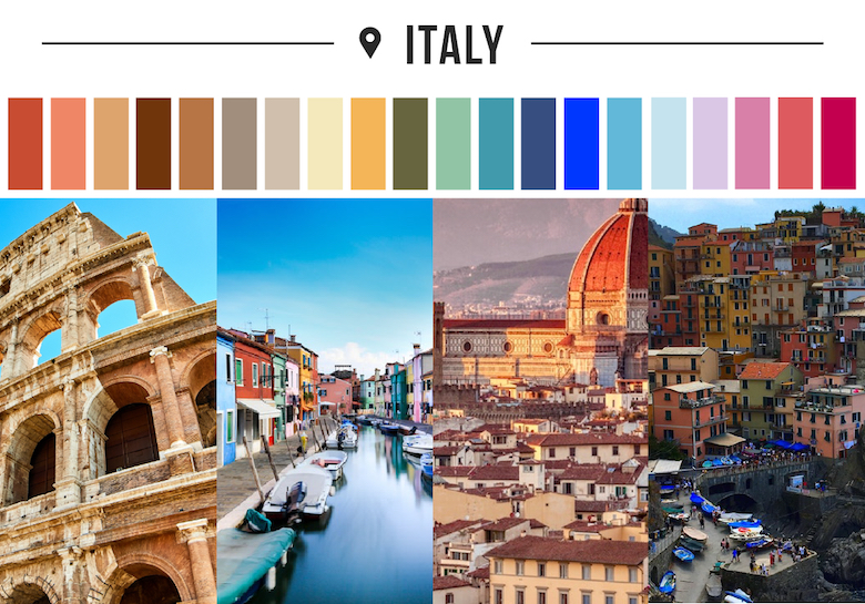 Colors of countries - Italy