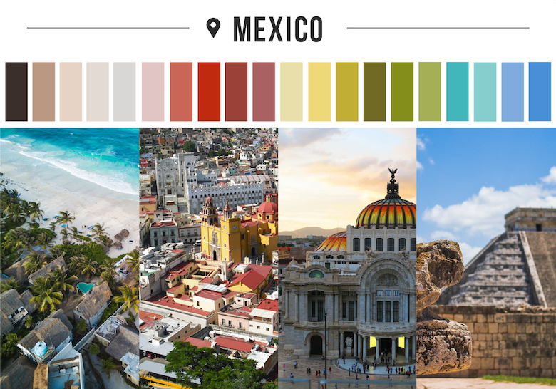Colors of countries - Mexico