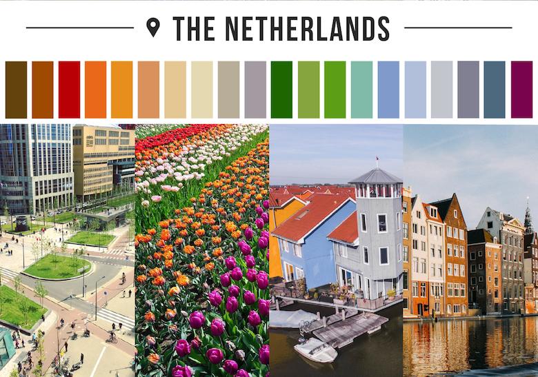 Colors of countries - The Netherlands