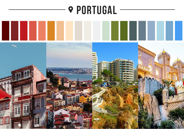 Colors of countries - Portugal