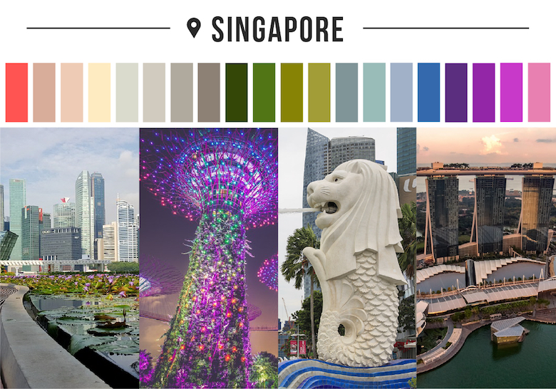 Colors of countries - Singapore