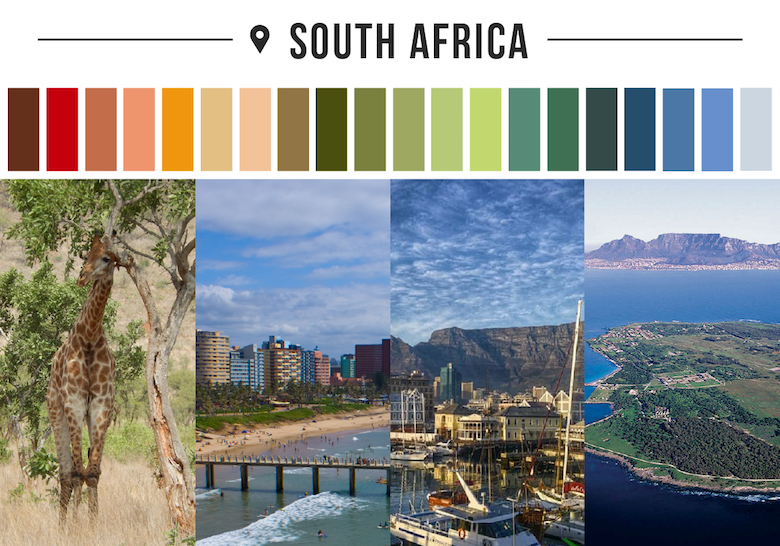 Colors of countries - South Africa