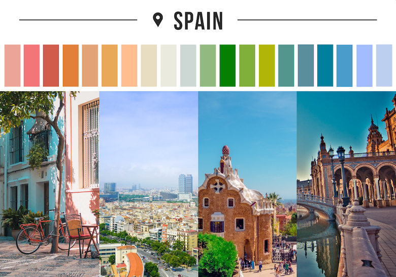 Colors of countries - Spain