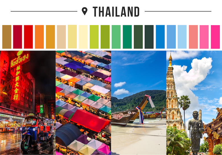 Colors of countries - Thailand