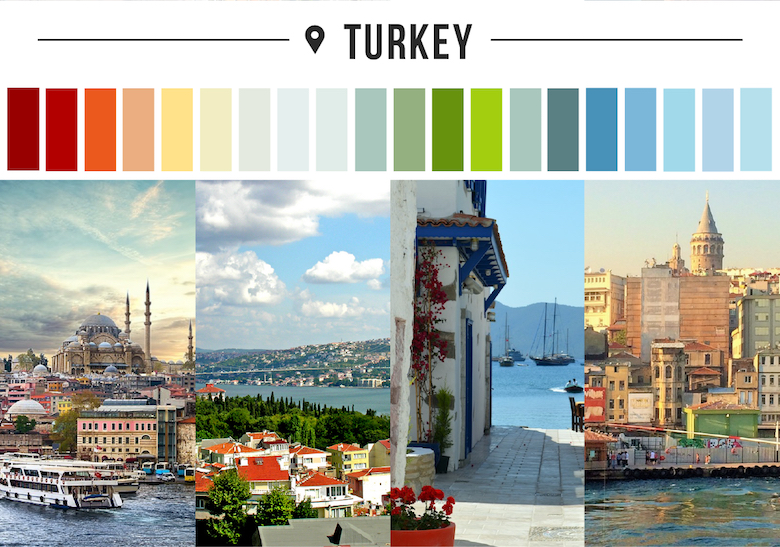 Colors of countries - Turkey