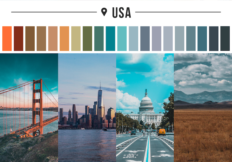 Colors of countries - USA