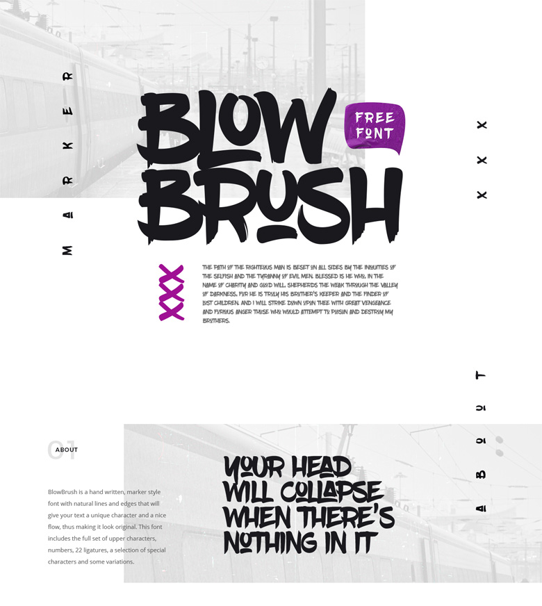 Best Free Fonts - Blowbrush