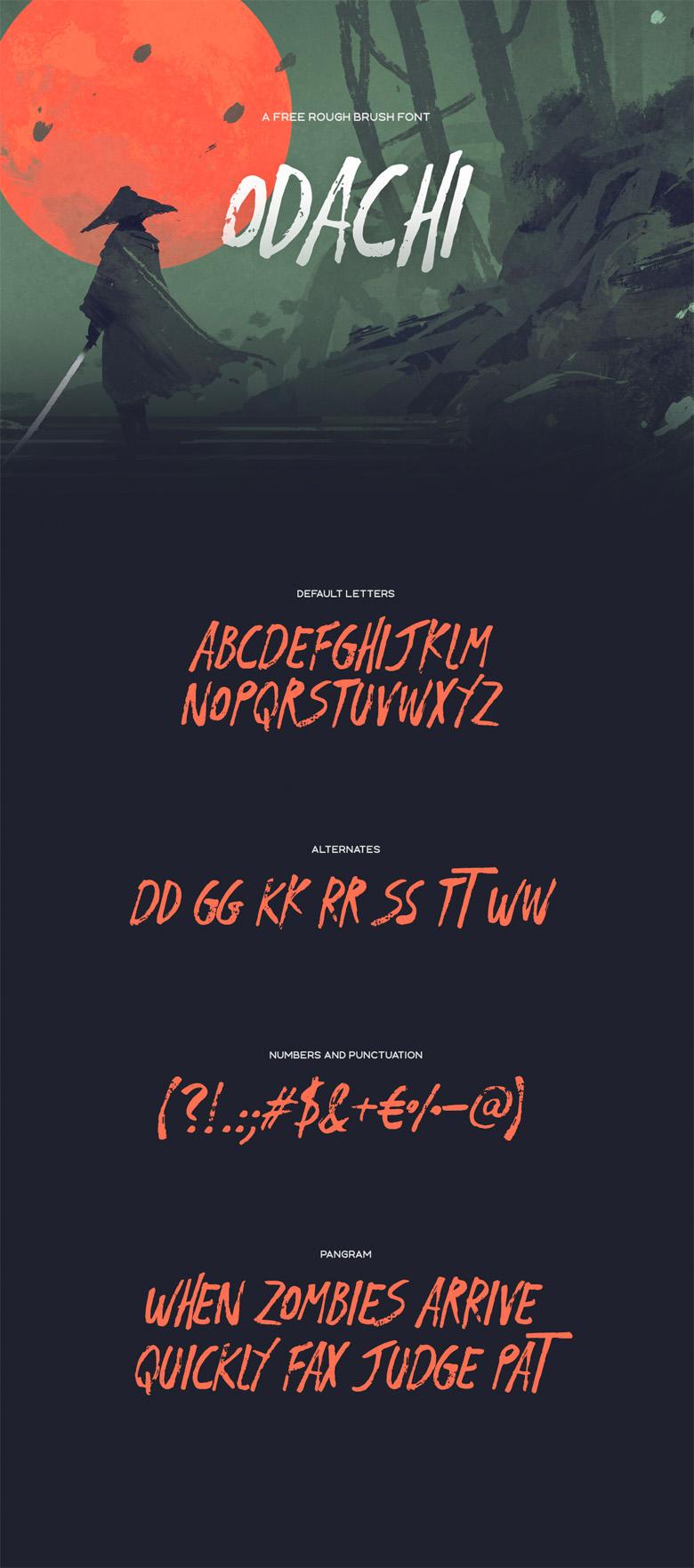 Best Free Fonts - Odachi