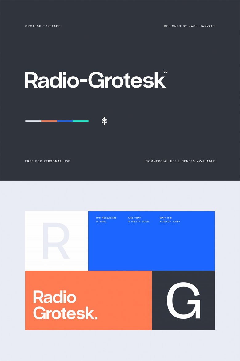 Best Free Fonts - Radio Grotesk