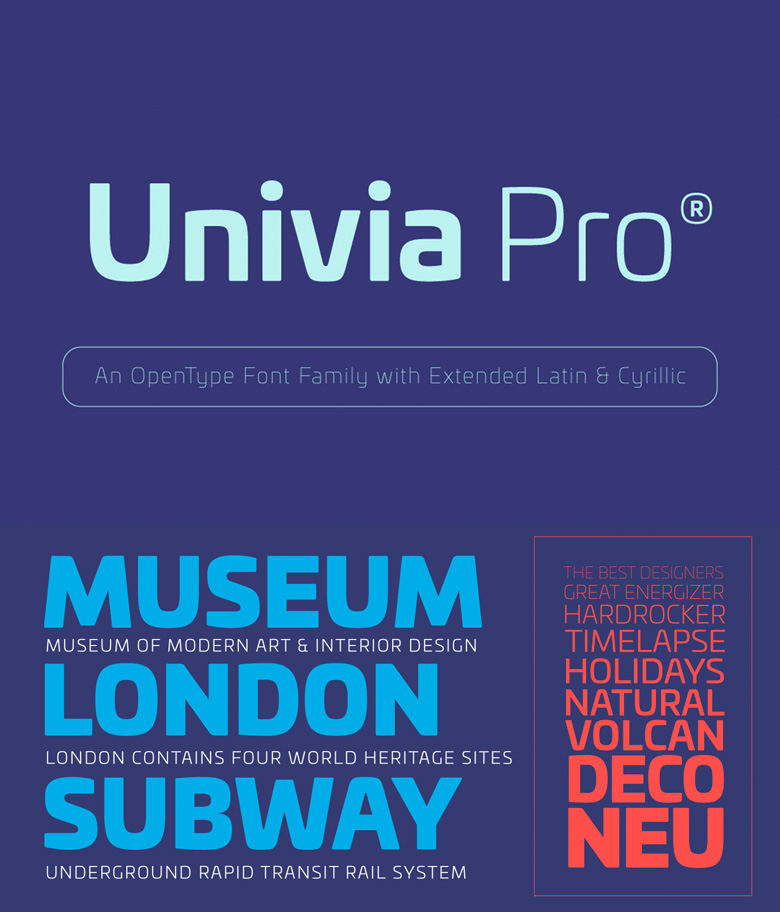 Best Free Fonts - Univia Pro