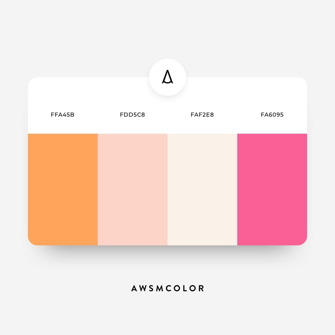 Orange & pink color shades, palettes, combinations, schemes