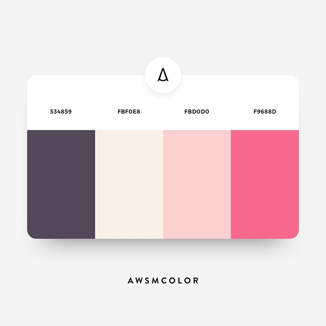 Pink color shades, palettes, combinations, schemes