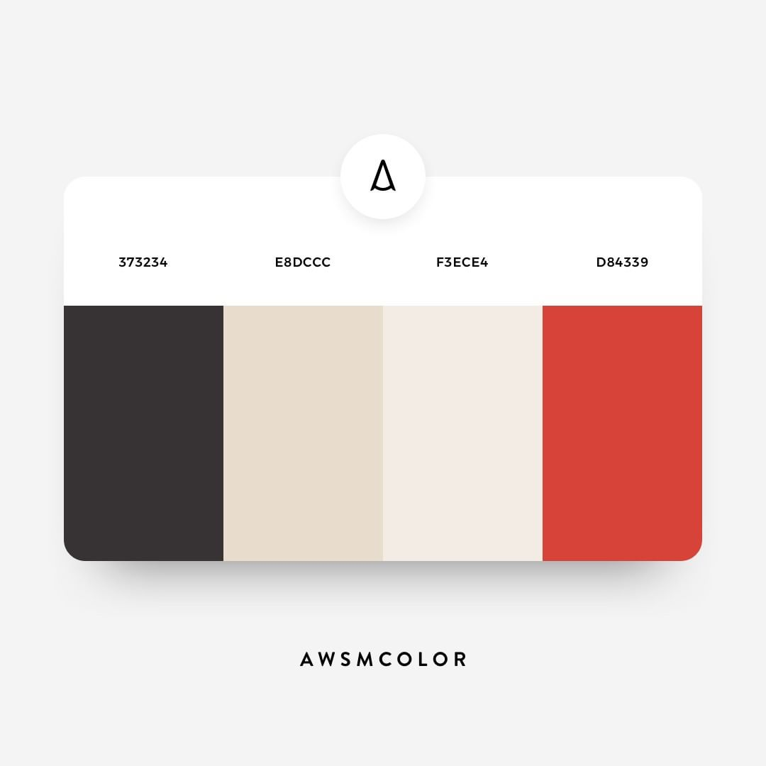 Pastel, grey, red color shades, palettes, combinations, schemes