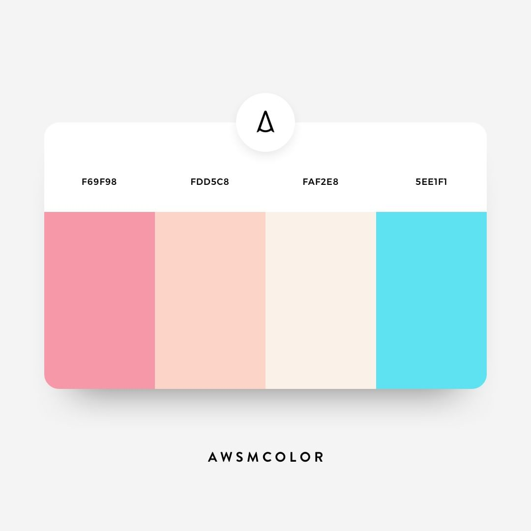Pink, pastel, blue color shades, palettes, combinations, schemes