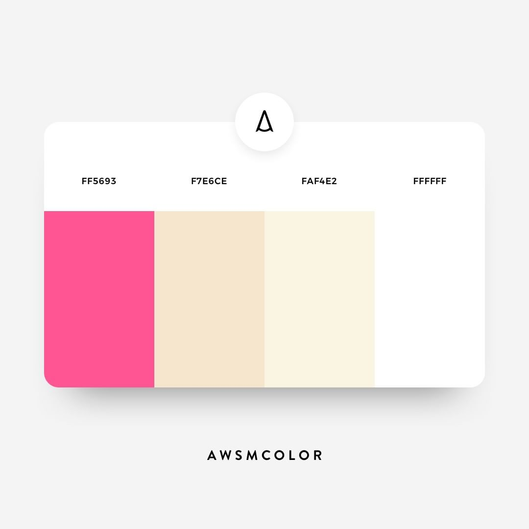 Pink, pastel color shades, palettes, combinations, schemes