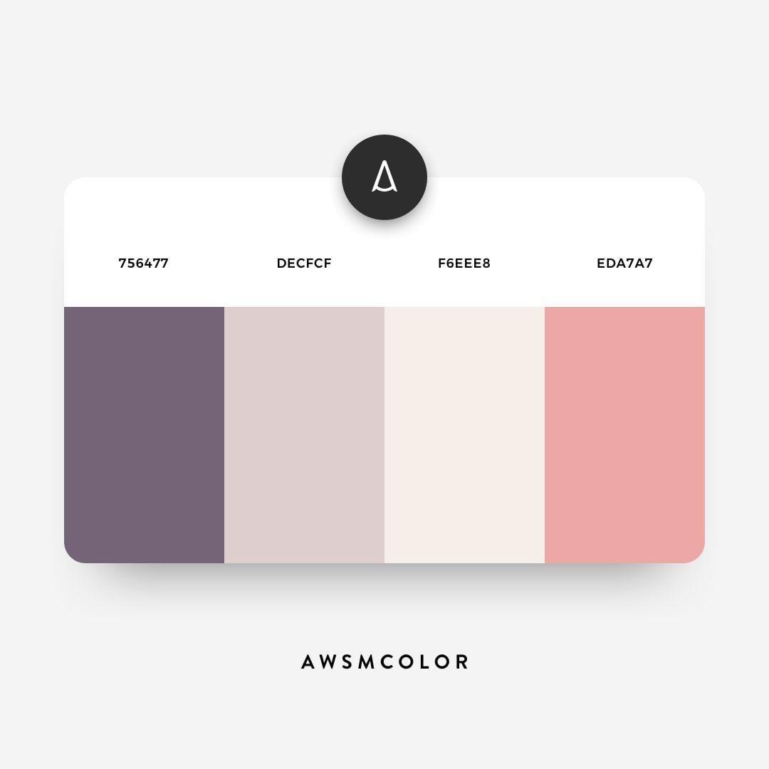 Pastel, purple, pink color shades, palettes, combinations, schemes