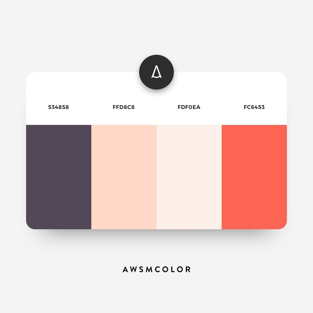 Grey, pink, orange color shades, palettes, combinations, schemes