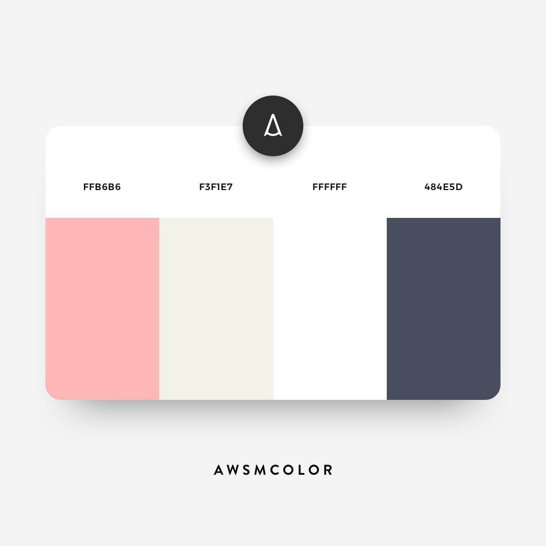 Pink & grey color shades, palettes, combinations, schemes