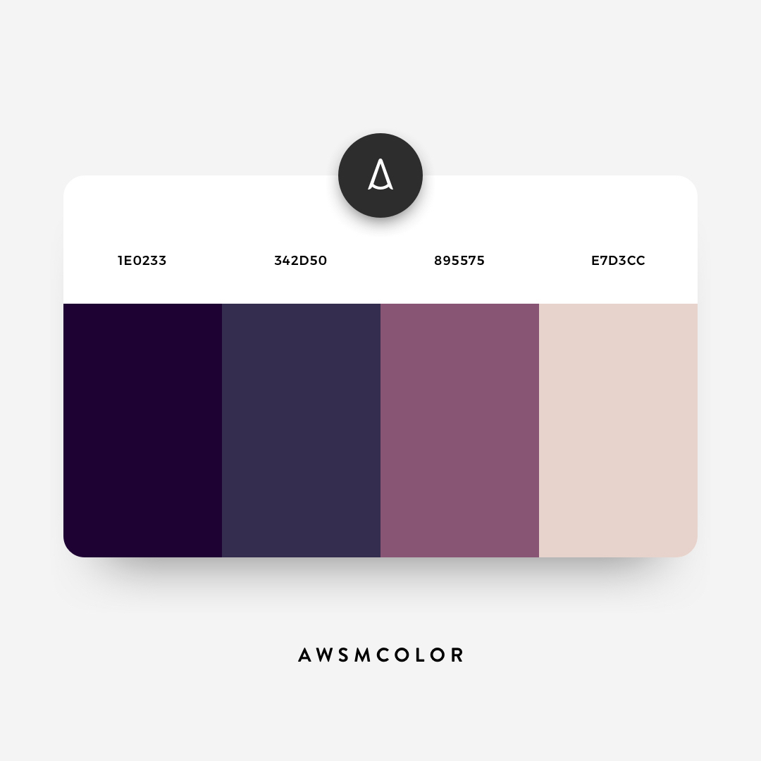 Dark blue, purple color shades, palettes, combinations, schemes