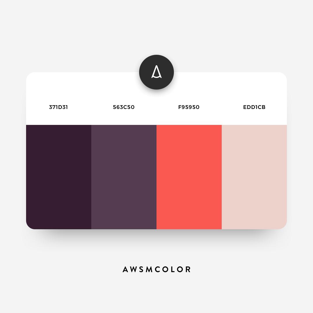 Dark purple, orange color shades, palettes, combinations, schemes